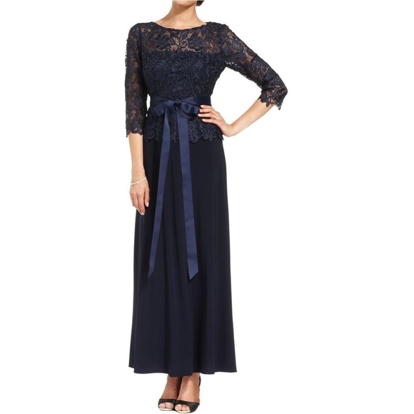 2b7a83948dc Patra Navy lace Mother of the Bride Dress Gown. NWT